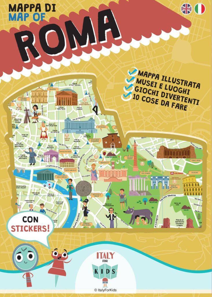 Book Cover: Italy for Kids: la mappa di Roma