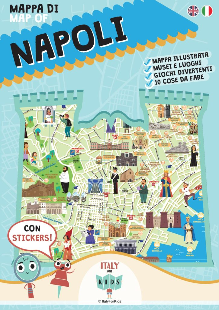Book Cover: Mappa di Napoli illustrata